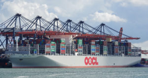 oocl hongkong, containerschip, koopvaardij,