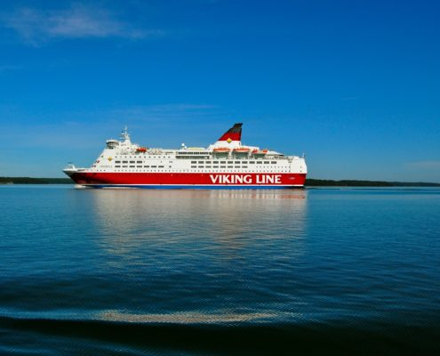 viking grace, viking line, rotor sail, passagierschip